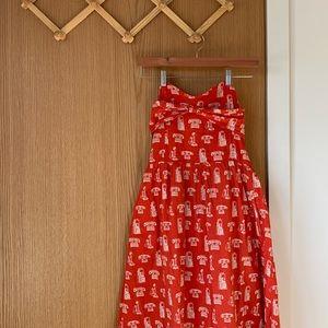 ANTHRO Porridge Repartee Telephone Dress